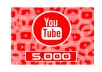 Add 5,000 YOUTUBE FAST VIEWS