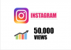 I will Provide you Real 50,000+ Instagram Videos Views 100% Safely. What it's this service's features?  ✔ No password required  ✔ No Bots  ✔ You can split in maximum 5 videos  ✔ Fastest Delivery  ✔ This service not Violates any Instagram rules.  ✔ 24/7 Customer Support You can contact us for custom orders.