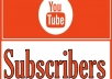 Hi, I will provide you 600+  real and Non-Drop YouTube Subscribers for your YouTube channels. My service will help to get instant credibility for your channel.      Bonus:  15 custom comments any of your YouTube videos     My services:  All Subscriber real human & Active. Non-drop subscribers. Promote Your YouTube channel. YouTube subscribers are 100% genuine. Cheap offer for you. Extra YouTube Subscribers.  No bots used. Faithful work. Works procedure 100% Right way. Your satisfaction is my priority, your complete money will be refunded if you are not happy with my work or service.