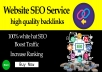 provide website SEO service with high quality backlinks