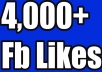 Provide you 4000 Facebook likes