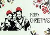 make a custom silhouette christmas card