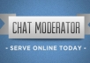 be a chat moderator on your website