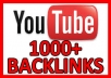 Build 15+ high quality backlinks to your YouTube video for SEO rankings