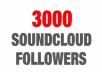 Provide 3000 Soundcloud Followers