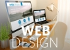 I will design a beautiful one page website for your business.