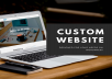 design, build and install a custom website on wordpress
