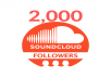 Provide 2000 Soundcloud Followers