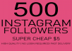 give 500 instagram followers