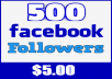 Provide You Instant 500+ Facebook Profile Followers