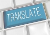 Translate 500 words in portuguese,italian and english.