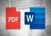 convert your pdf file to word file
