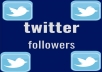 All Twitter Followers are Real,Its Fast & Safe service.All followers will be stay  For life Time in your account.i always delivered  on Time .iam a Top rated seller  see my Other buyers feedback about My services. i will Provide This service all time when you need Twitter Followers for Your  Twitter account.All are human,with real Profile Pictures .don't wast you time  & Money with fake followers  which are drop down after some time. Get This service & i hope your will buy it again & again....  Hope You will Like My service