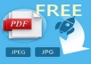 I can convert photo images to PDF (Word format) and visa versa