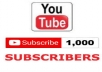 I will give you, 1000 high-quality YouTube subscribers On your YouTube Video channel, only for £50. These YouTube subscribers are 100% Genuine & come from active YouTube users & different IP in the world.     I Will Provide You With:     All Subscriber real human & Active. Non-drop subscribers. Promote Your YouTube channel. YouTube subscribers are 100% genuine. Cheap offer for you. Extra YouTube Subscribers.  No bots used. Faithful work.  Deliver before the deadline. Works procedure 100% Right way. Within 2 days delivered  PLACE ORDER NOW    Service is available as a monthly subscription; optional at checkout.