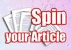spin 3 your article with the best spinner and GUARANTEE pass copyscape