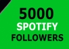 I will provide 5000+ Spotify Followers 