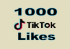 Provide you 1,000+ TikTok Likes
