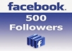 provide 500 Facebook Fan page  followers