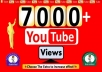 provide 7,000+ Permanent Youtube Views Life time guarantee (High Quality)