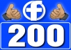 Add REAL 200 Fan Page Likes NON DROP
