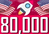 Drive 80,000 USA visitors from social media