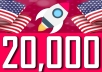 Drive 20,000 USA visitors from social media