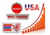 I will send you Fast 80.000 real USA,Uk, Canada website traffic visitors from all Countries 