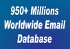 Give You 980+ Million Email Address Worldwide