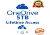 Create Onedrive 5TB Lifetime Account - Custom Login - Best Price - Fast Delivery