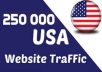 Provide you Real 250,000+  ( USA ) traffic your website