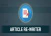 professionally rewrite your 500 word web articles in a unique way