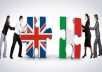 Translate any document  up to 500 words from ITA-ENG and ENG-ITA