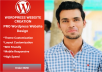 create or design wordpress website