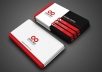 design a delightful and charming business card