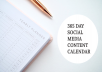 Tackle social media and save hours of time, stress and worry with the 365 Day Social Media Content Calendar.
