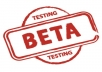 beta test your Windows based application