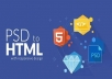 convert PSD to HTML bootstrap 4