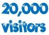 Give you 20,000Real/Human/Unique Visitors for Google adsense.
