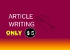 write eye catching articles for your website in any niche