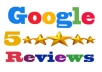 give 5 permanent google review for your website