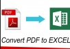 data enter and convert your pdf files and images into word or excel file