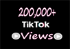 I can give you 200,000+(200k) Non-Drop TIKTOK Views with Lifetime Guarantee