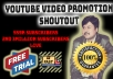 do youtube video promotion with our 559k subscribers