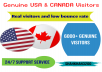 Give Unlimited Traffic only from USA & Canada for 25+ days