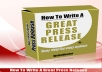 show you how to write a great press release