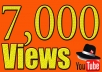 In this gig I'll provide you 7,000 Real YouTube views 30$. A Service To Improve The Popularity Of Your YouTube Videos and Increase Your Site/Blog Visitors....Videos with more Views often show up in Google search results. Also this helps you get found more often on YouTube Top Search Results.  Order now and get huge views on your video!!!