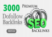 Create 3000 Massive High Authority DoFollow Backlinks For Your Website Rankings