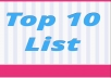 "write a ""Top 10 List"" article"