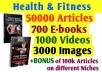 give Health and Fitness PLR Articles, PLR eBooks,PLR videos and images